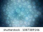 dark blue vector texture with... | Shutterstock .eps vector #1087389146