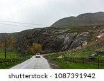 road in a mountainous area | Shutterstock . vector #1087391942