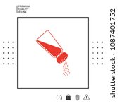 salt or pepper shaker   Shutterstock .eps vector #1087401752