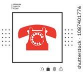 retro telephone symbol | Shutterstock .eps vector #1087401776