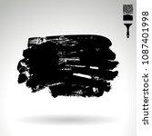 black brush stroke and texture. ...   Shutterstock .eps vector #1087401998