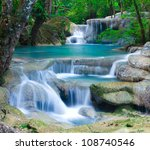Blue Stream Waterfall In...