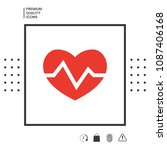 heart medical icon   Shutterstock .eps vector #1087406168