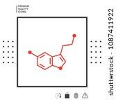 chemical formula icon. serotonin | Shutterstock .eps vector #1087411922