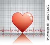 heart with ekg.medical | Shutterstock . vector #108741212