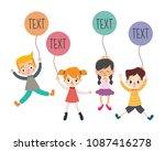 character kids vectors... | Shutterstock .eps vector #1087416278