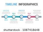 timeline infographics template  ...   Shutterstock .eps vector #1087418648