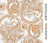 paisley style floral seamless... | Shutterstock .eps vector #1087422242