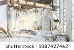 interior elements in loft... | Shutterstock . vector #1087427462