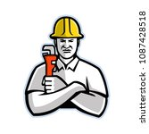 mascot icon illustration of a... | Shutterstock . vector #1087428518