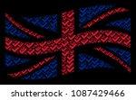 waving great britain flag...