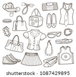 collection of fashionable women'... | Shutterstock .eps vector #1087429895