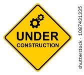 under construction  yellow... | Shutterstock .eps vector #1087431335