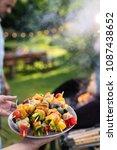 in summer. a couple prepares a...   Shutterstock . vector #1087438652