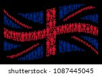 waving english flag composition ... | Shutterstock .eps vector #1087445045