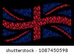 waving great britain official... | Shutterstock .eps vector #1087450598