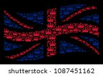 waving english official flag... | Shutterstock .eps vector #1087451162
