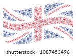 waving united kingdom state... | Shutterstock .eps vector #1087453496