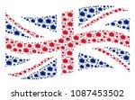 waving english state flag... | Shutterstock .eps vector #1087453502