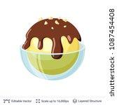 ice cream refreshing dessert.... | Shutterstock .eps vector #1087454408