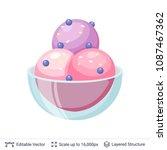 ice cream refreshing dessert.... | Shutterstock .eps vector #1087467362