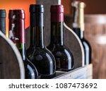 Wine Bottles In Wooden Crate...
