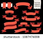 vector collection of decorative ... | Shutterstock .eps vector #1087476008