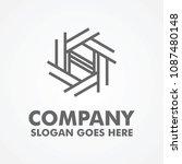 modern nest style logo template | Shutterstock .eps vector #1087480148