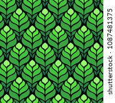 seamless abstract pattern with... | Shutterstock .eps vector #1087481375