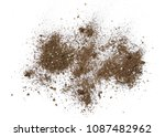 dirty earth on white background.... | Shutterstock . vector #1087482962