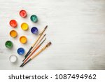 flat lay composition with... | Shutterstock . vector #1087494962