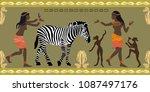 panoramic scene inspired by... | Shutterstock .eps vector #1087497176