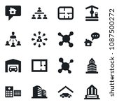 set of vector isolated black... | Shutterstock .eps vector #1087500272