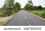 asphalt road is rebuilding. | Shutterstock . vector #1087505435