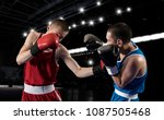 two professional boxer boxing... | Shutterstock . vector #1087505468