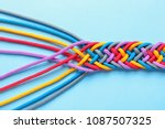 braided ropes on color... | Shutterstock . vector #1087507325