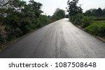 asphalt road is rebuilding. | Shutterstock . vector #1087508648
