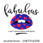 for lipstick t shirt printing... | Shutterstock .eps vector #1087516358