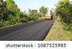 asphalt road is rebuilding. | Shutterstock . vector #1087525985