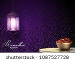 ramadan kareem greetings with... | Shutterstock .eps vector #1087527728