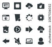 black vector icon set bomb in...
