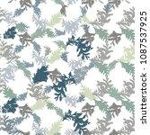 botanical vector seamless... | Shutterstock .eps vector #1087537925