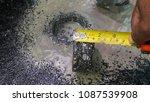 asphalt road is rebuilding. | Shutterstock . vector #1087539908
