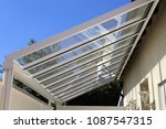 courtyard canopy with glass | Shutterstock . vector #1087547315