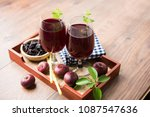 kokum sharbat  juice or sherbet ... | Shutterstock . vector #1087547636