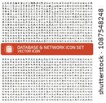database vector icon set | Shutterstock .eps vector #1087548248