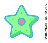 star favorite sign  | Shutterstock .eps vector #1087559972