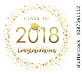 graduating class of 2018 light... | Shutterstock .eps vector #1087561112