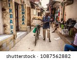 stone town  tanzania   january... | Shutterstock . vector #1087562882