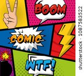 comic pop art | Shutterstock .eps vector #1087583522